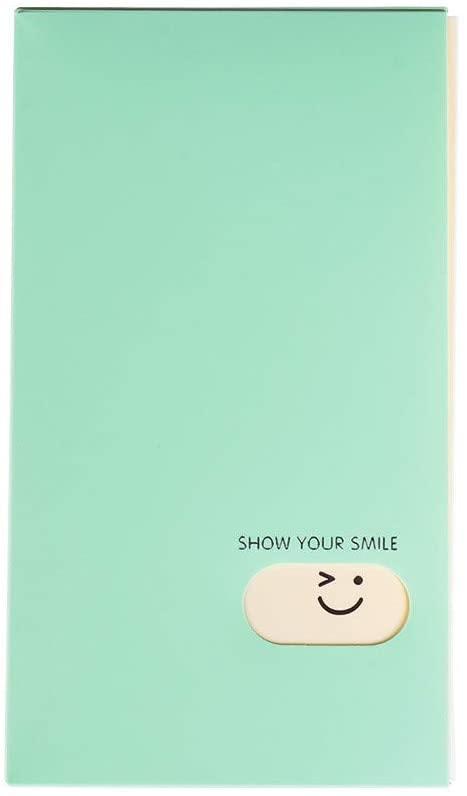 120 Pockets Fashion Portable Large Capacity Candy Color Photo Album Photocard Book Card Stock Lomo Card Holder(Light Green)