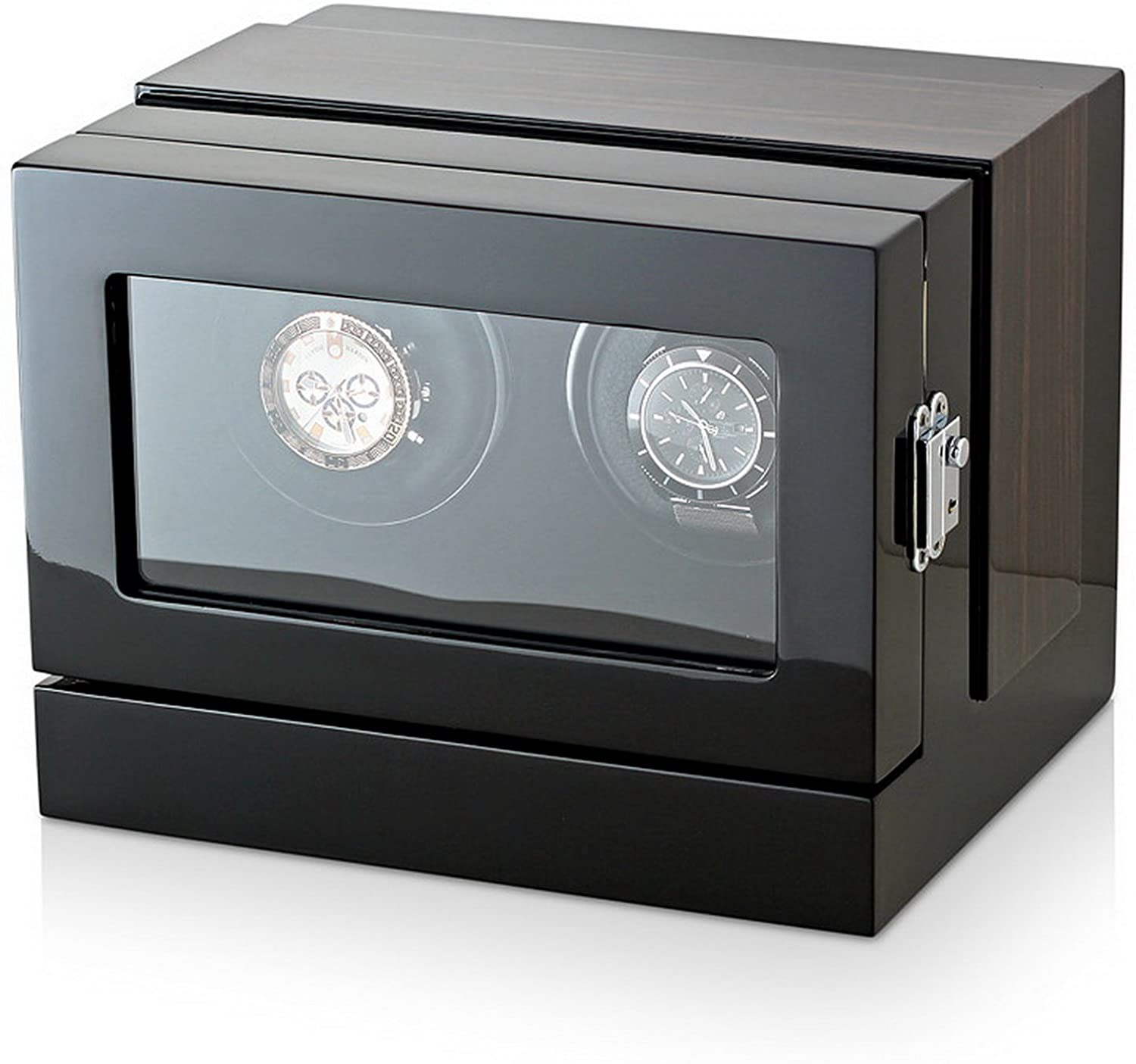 Double Watch Winder with Customisable Winding Mode and LED Backlight