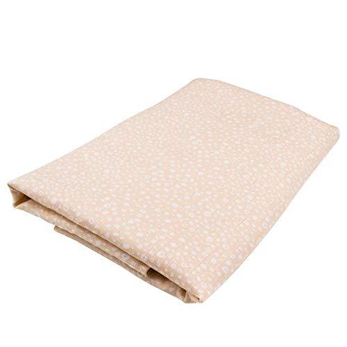 Oliver & Rain Girl Organic Muslin Swaddle Baby Blanket, Light Pink Cheetah Dot