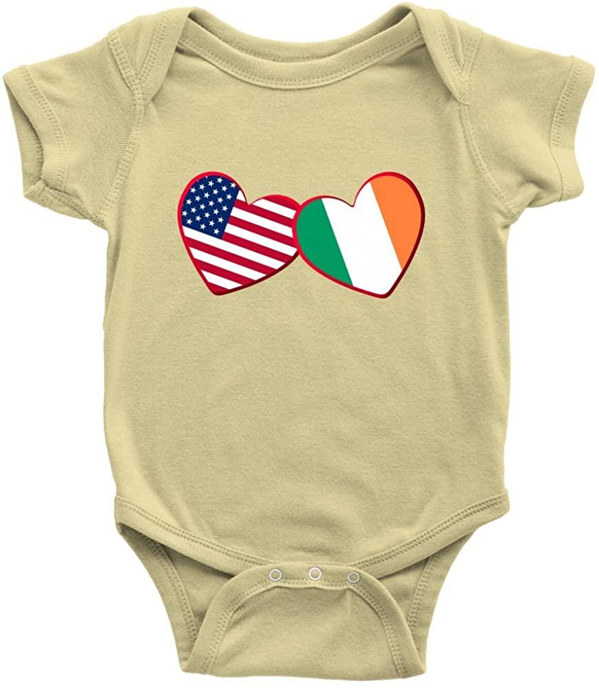 Teelaunch Irish and American - Infant Bodysuit Baby Romper