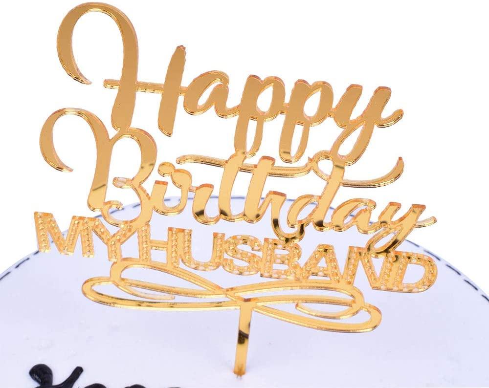 SHAMI Happy birthday husband cake topper - Adult Birthday Party Decoration Supplies