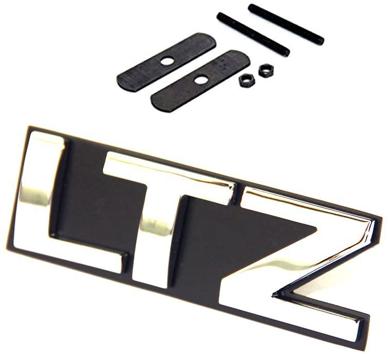 Yoaoo 1x OEM Grille Ltz Letter Nameplate Emblem Badge Replacement for Silverado Tahoe Sierra Glossy Chrome