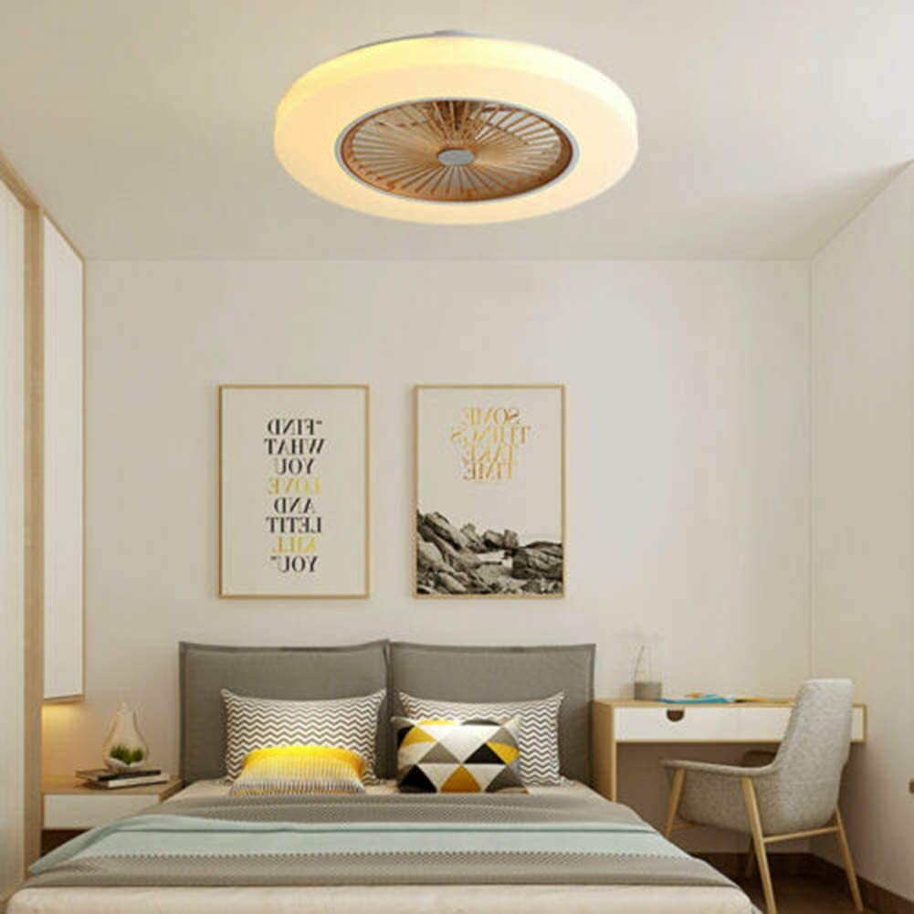 Modern 58CM Ceiling Fan with Lighting 36W 3 Color Dimmable 3 Speed LED Light Fan Chandelier Timing Mute with Remote Control Multifunctional Gold Suitable for Living Room Bedroom Kitchen