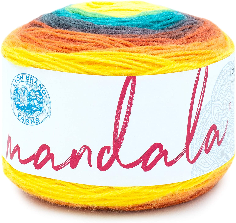 Lion Brand Yarn 525-207 Mandala Yarn, Thunderbird, 1-Pack