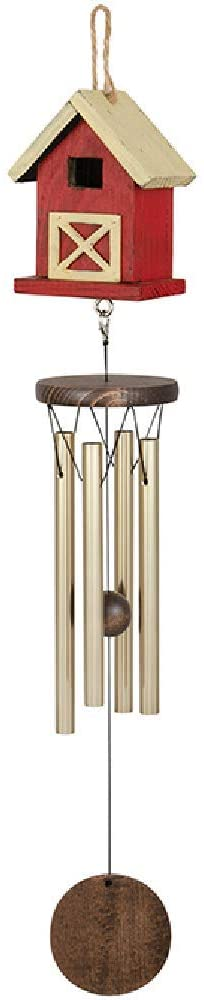 Carson 63062 Barn Birdhouse Chime, 25-Inch Long