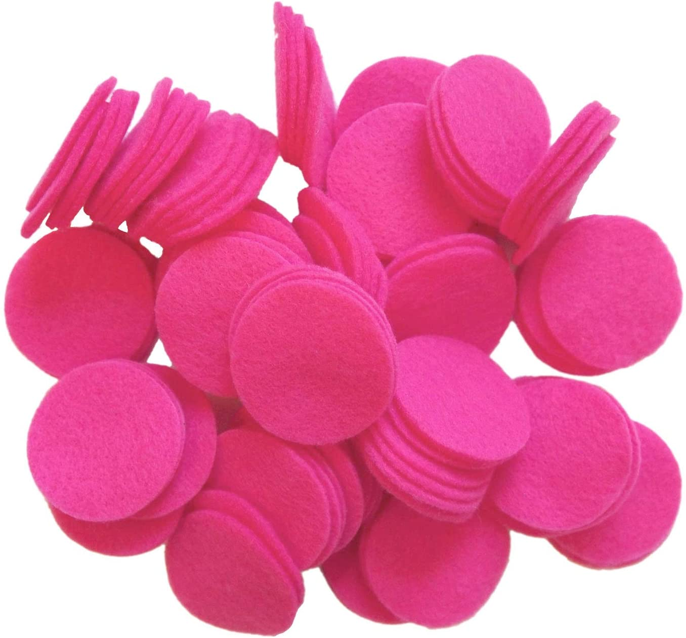Playfully Ever After Pink Craft Felt Circles (5 Inch - 18pc)