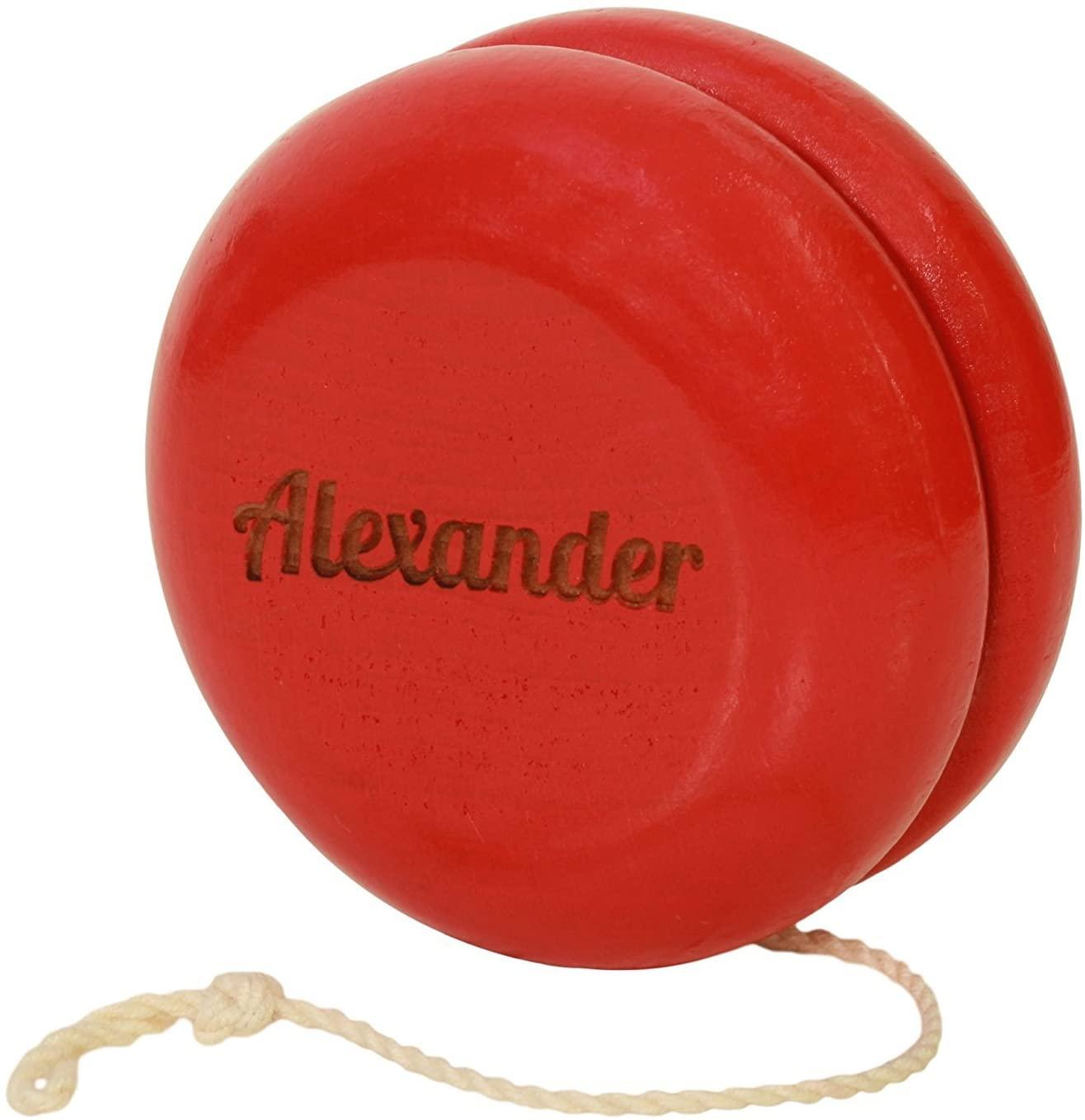 Yoyo King Customized Competition Classic Red Wooden Yo-yo