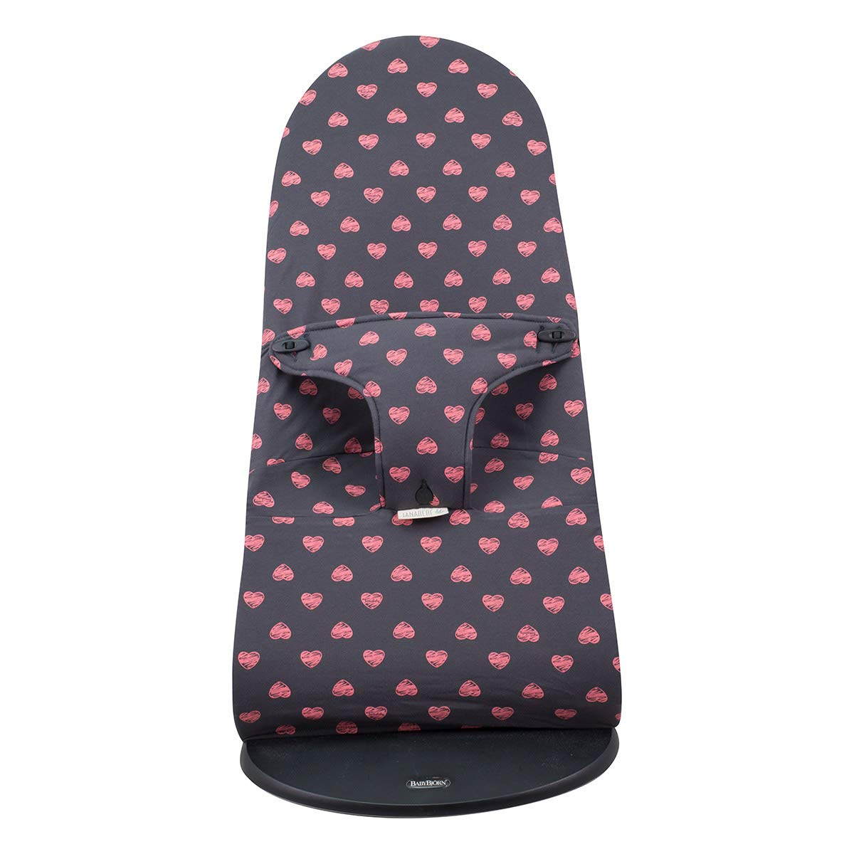 Janabebe Cover Compatible with Baby Bouncer Babybjorn Soft, Balance and Bliss (FLÚOR Heart)