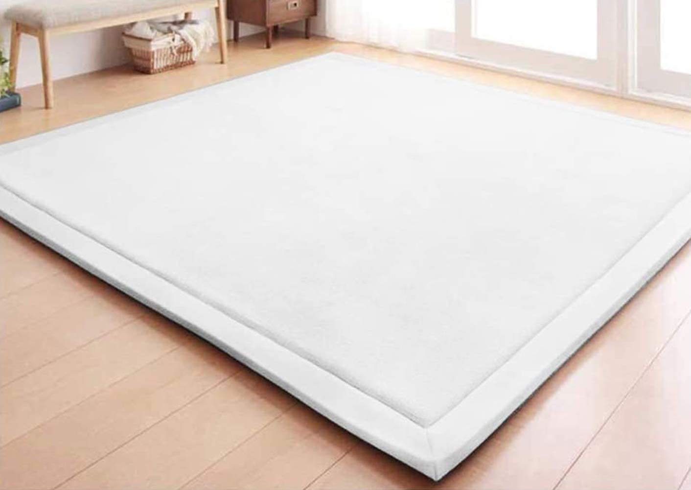 Nursery Rug-Baby Play Mat,Toddlers Crawling Carpet,Area Rug for Living Room Bedroom.Thick Tatami Foam Pad