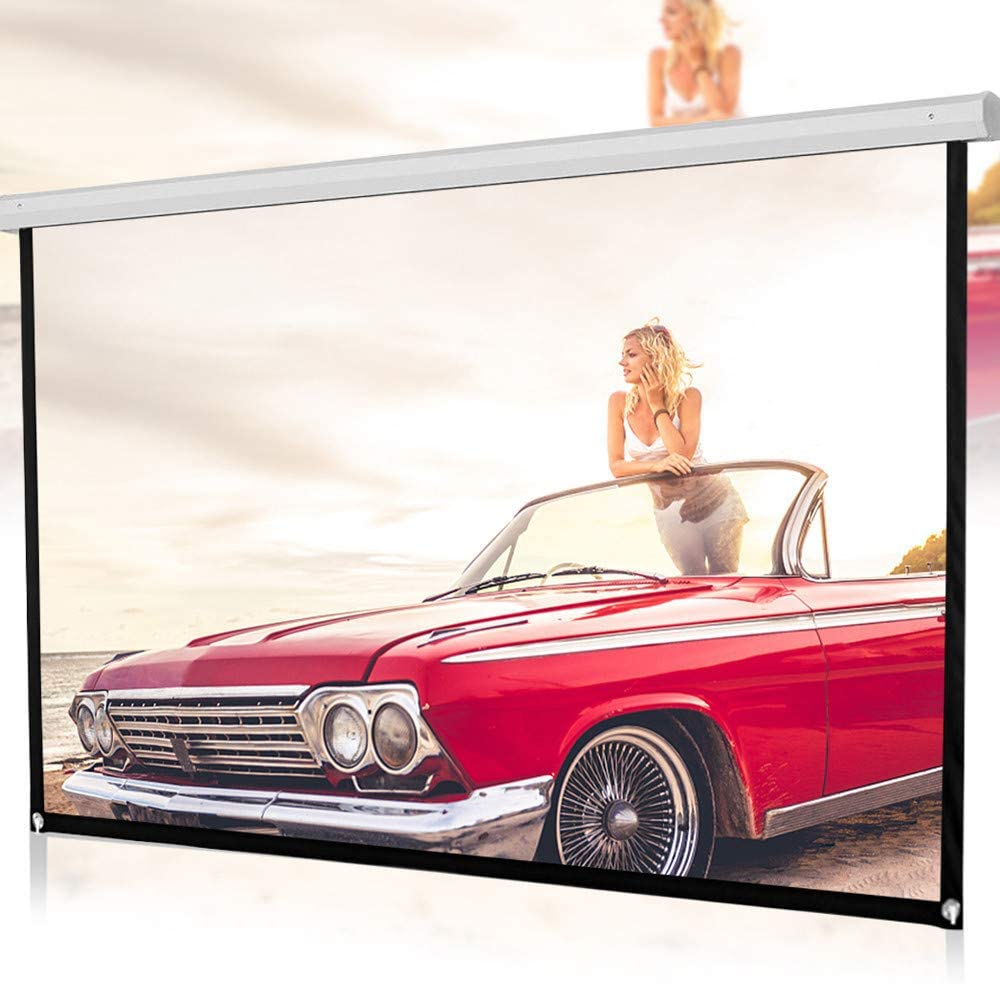 KimBird 100inch Projector Screen, 16:9 HD Foldable Anti-Crease Portable Projection Movies Screen, Home Cinema Theater Projection Portable Screen for Home Theater Outdoor Indoor US Stock