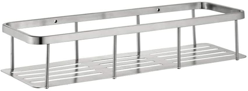 Wall-Mounted Storage Bathroom Stainless Steel Basket Kitchen Rack 304 Stainless Steel Bathroom Shelf (Size : 400mm)
