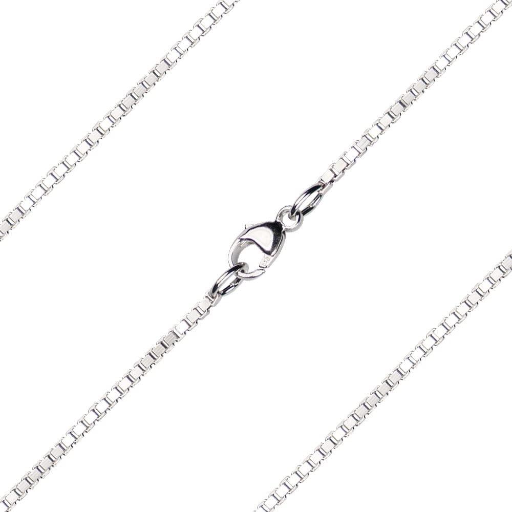 Bonyak Jewelry 20 inch Sterling Silver Venetian Box Chain