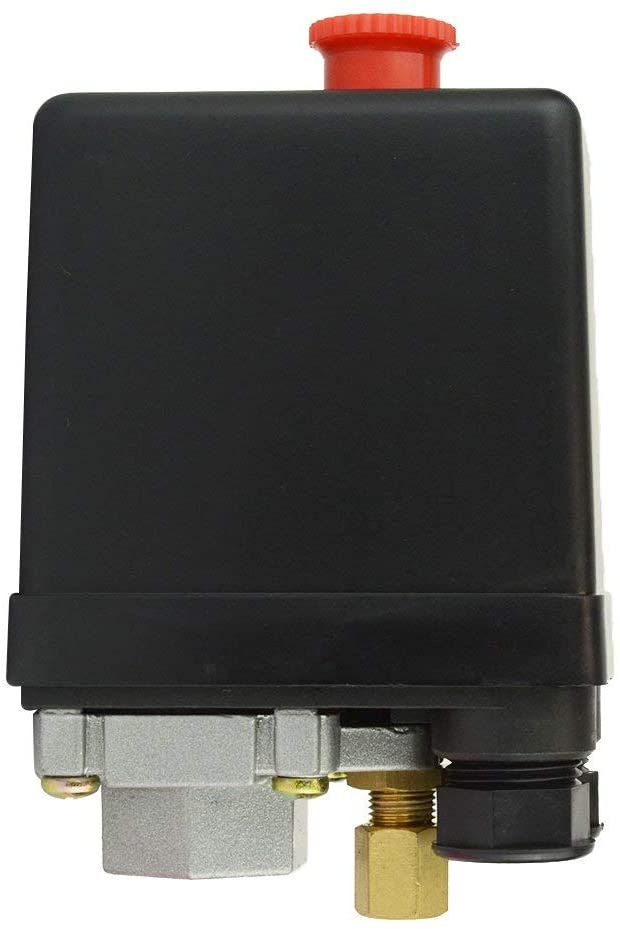 Interstate Pneumatics Lf10-L1H Pressure Switch - 1/4 Inch Fpt Single Port - Push-Pull Switch 20 Amps 95-125 Psi