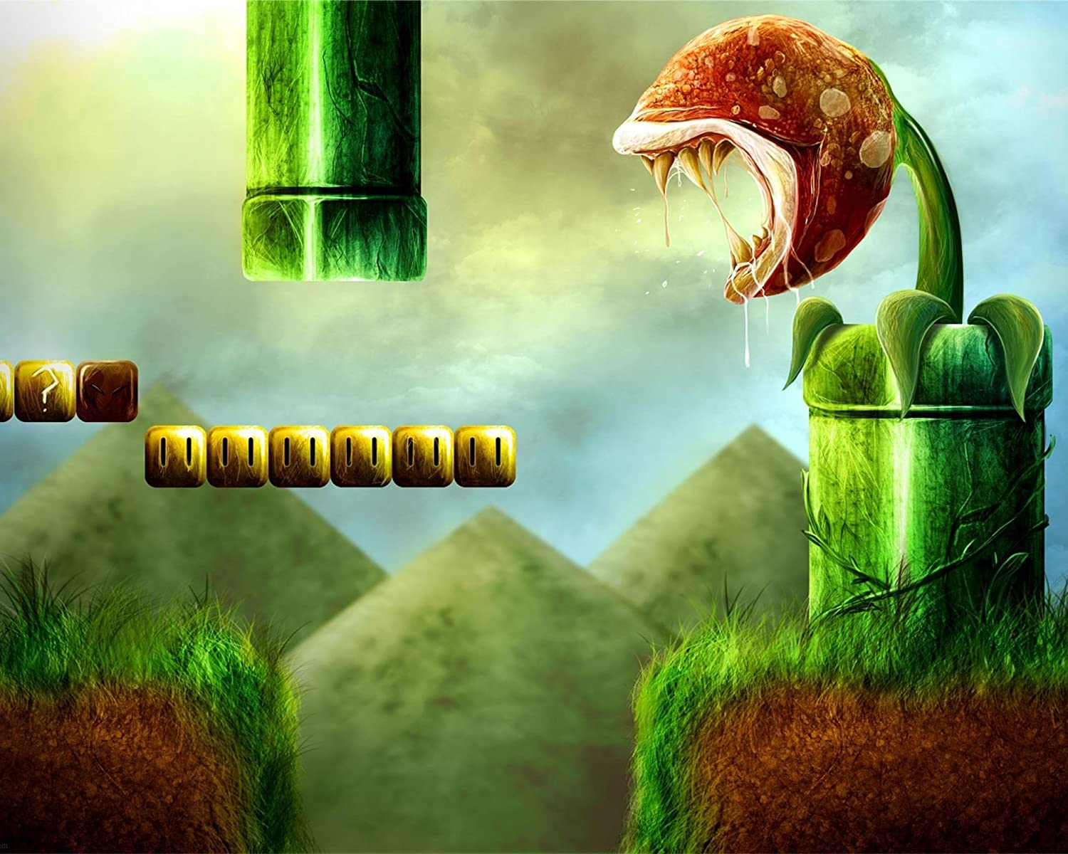 HiddenSupplies Piranha Plant Real + Free RFG Sleeves 75 Count Standard Size