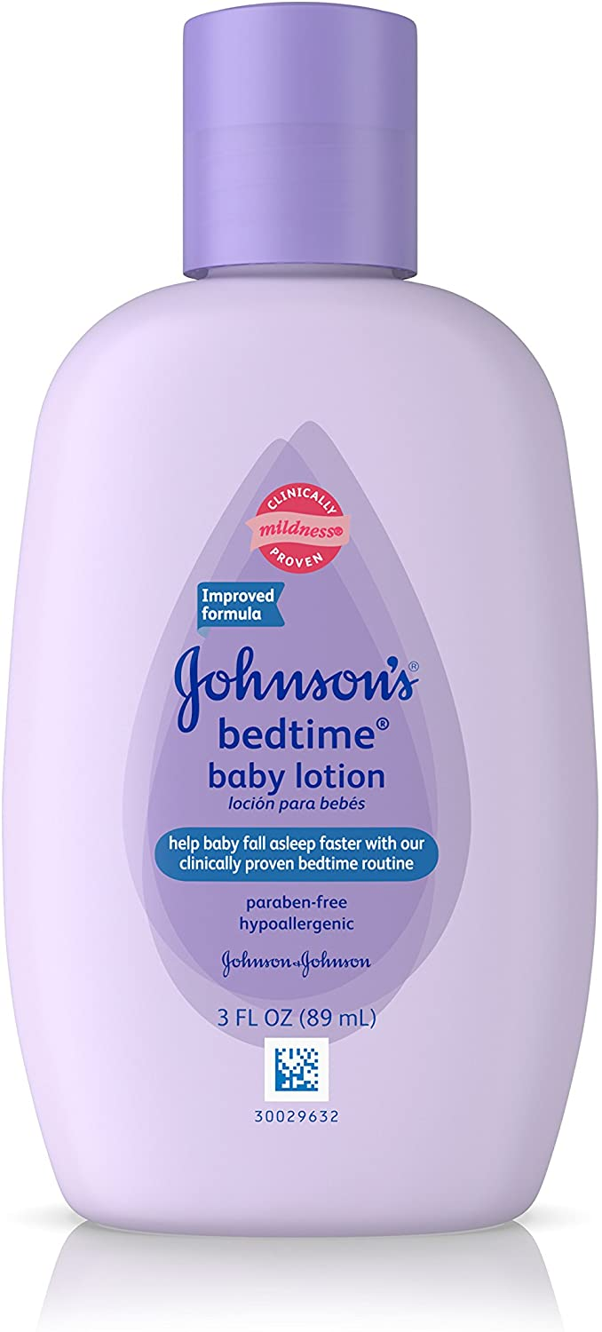 Johnsons Bedtime Baby Lotion, 3.0 Fl. Oz (Pack of 4)