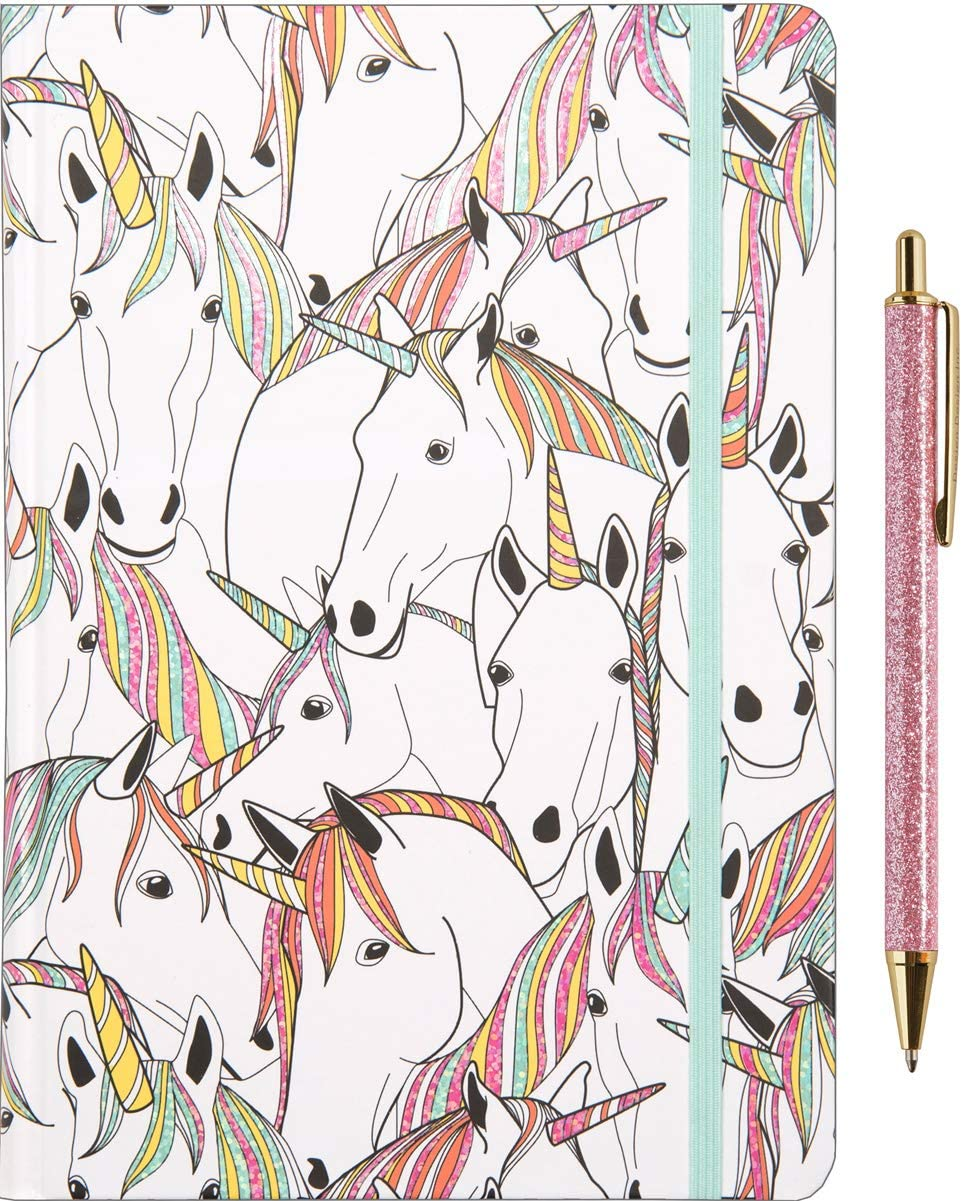 Design Design Hardcover Lined Pages Journal and Pen Bundle (Unicorn Party)