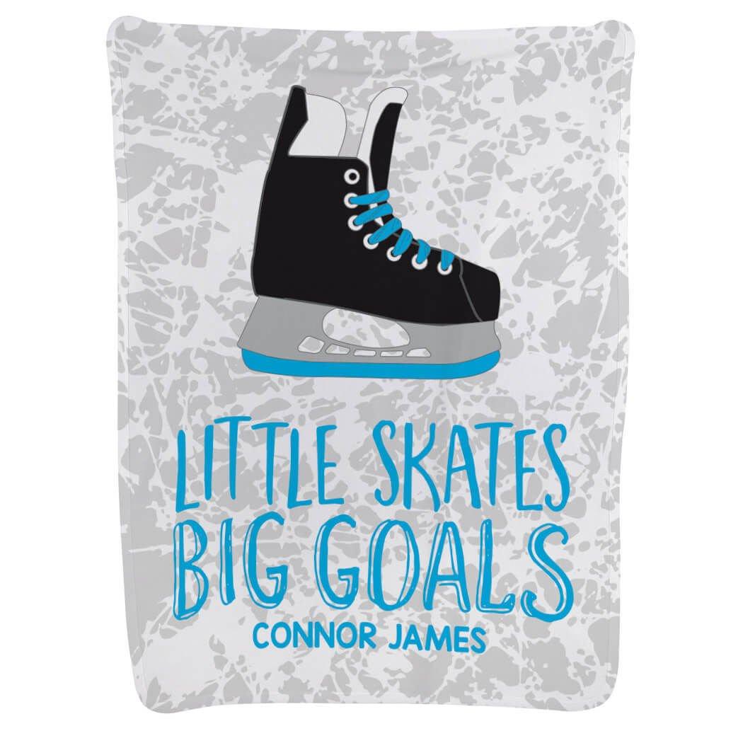 Personalized Hockey Baby & Infant Blanket | Little Skates Big Goals | Carolina
