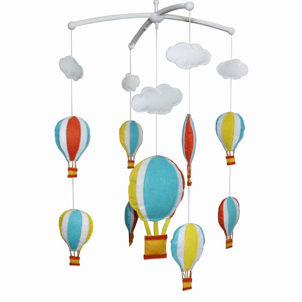 [Hot Air Balloon] Baby Music Mobile, Crib Decorations, Creative Crib Mobile