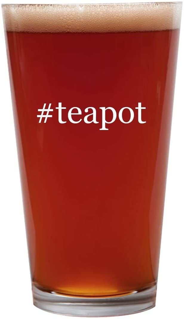 #teapot - 16oz Beer Pint Glass Cup