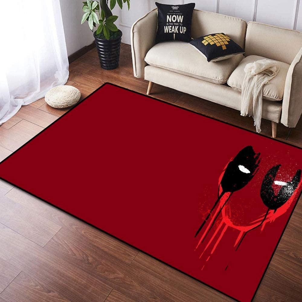 Coobal The Avengers Deadp-ool Home Decoration Large Rug Floor Carpet Yoga Mat, Classroom Rug for Children Kid Playroom Bedroom 4x6 Foot(122cmx182cm)