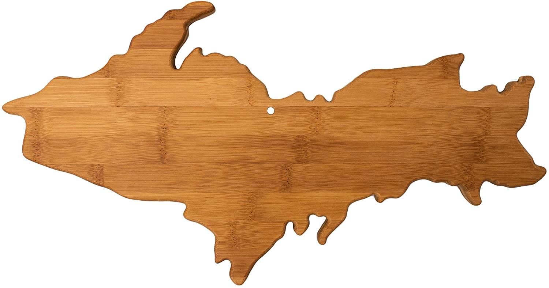 Totally Bamboo Upper Peninsula Shaped Bamboo Serving & Cutting Board, Michigan