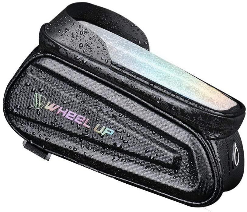 KyStudio Reflective Mountain Bike Bag Bicycle Rack Bag Riding Waterproof Front Handlebar Bags Mobile Phone Pack