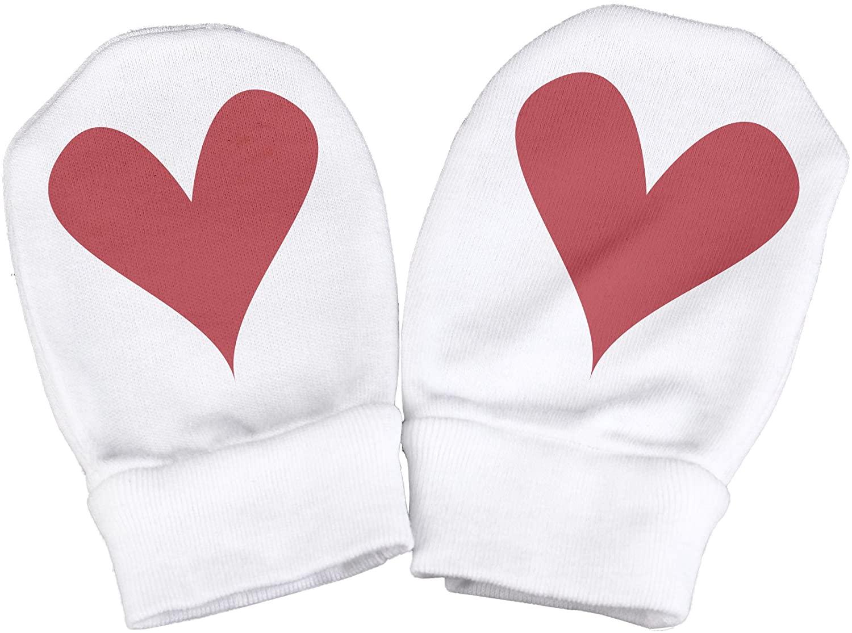 Spoilt Rotten - Heart Design 100% Organic Cotton Scratch Mittens