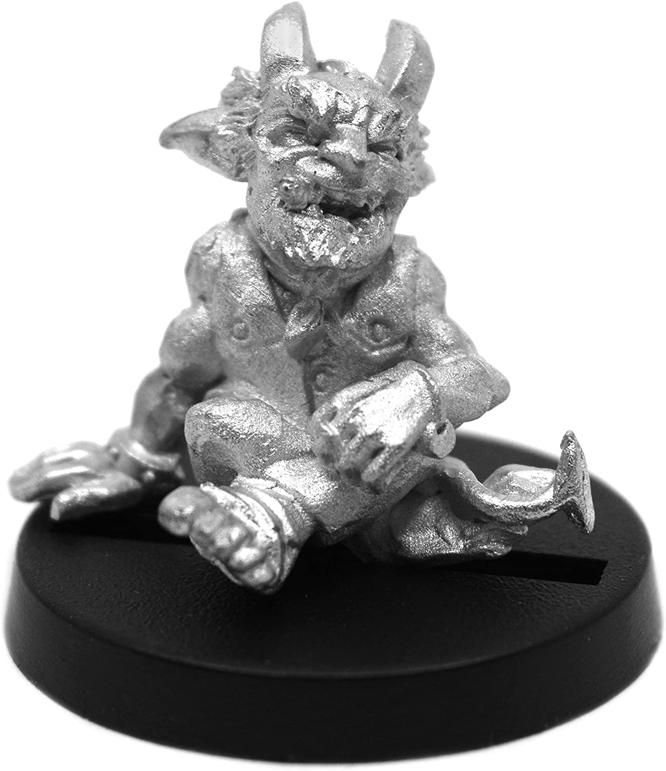 Stonehaven Male Dwarven Teifling Miniature Figure (for 28mm Scale Table Top War Games) - Made in US
