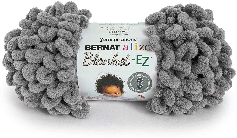 Bernat Alize Blanket-EZ Yarn, Dark Gray
