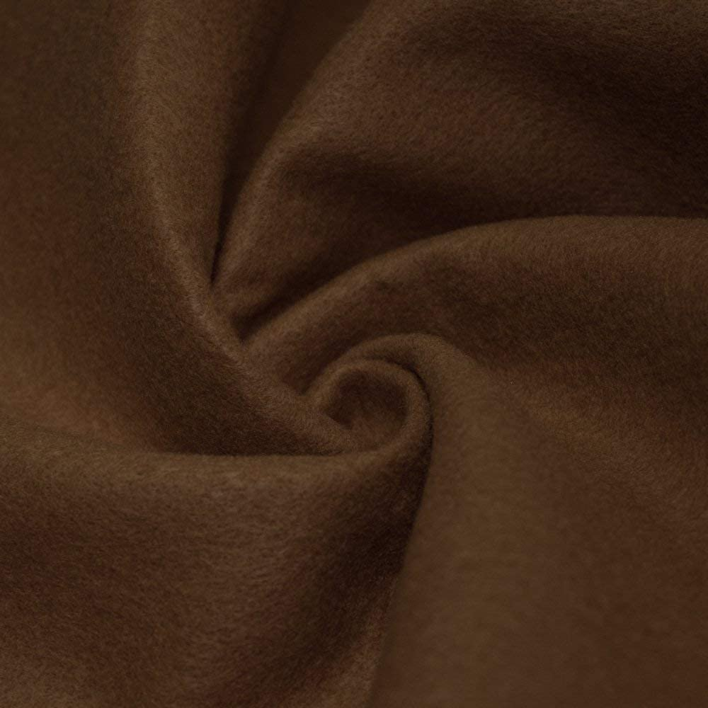 """AK TRADING CO. 72-Inch Wide 1/16"""" Thick Acrylic Felt Fabric for Arts & Crafts, Cushion and Padding, Sewing Projects, Kids School Projects, DIY Projects & More. - Light Brown, 1 Yard"""