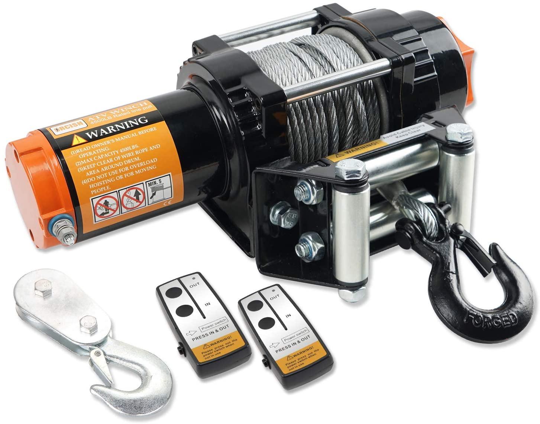 ORCISH 12V Waterproof 4500lb Electirc Winch ATV UTV Kits with Wireless Remote