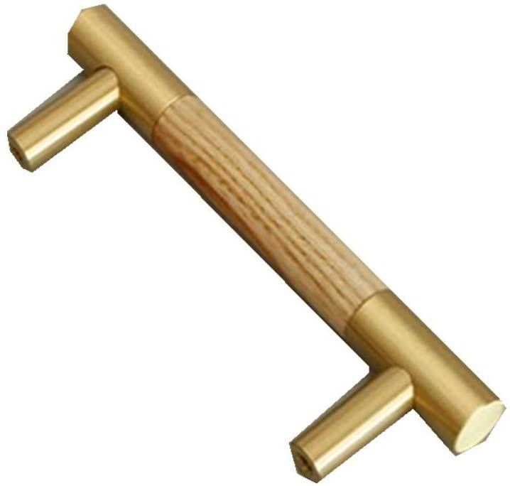 Quisilife Brass Handle Walnut Door Handle Antique Furniture Pull Ring Cabinet Door Copper Handle Accessories Retro (Color : Natural, Size : 130mm)