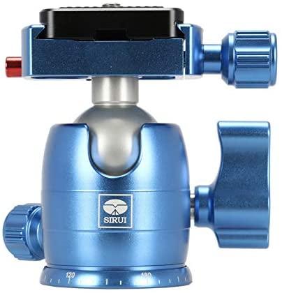 Sirui B-00 Aluminum Mini Ball Head with TY-C10 Plate, 11 lb Capacity, Blue