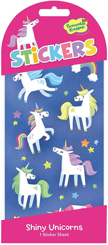 Peaceable Kingdom Unicorns Stickers, Shiny Unicorn Stickers