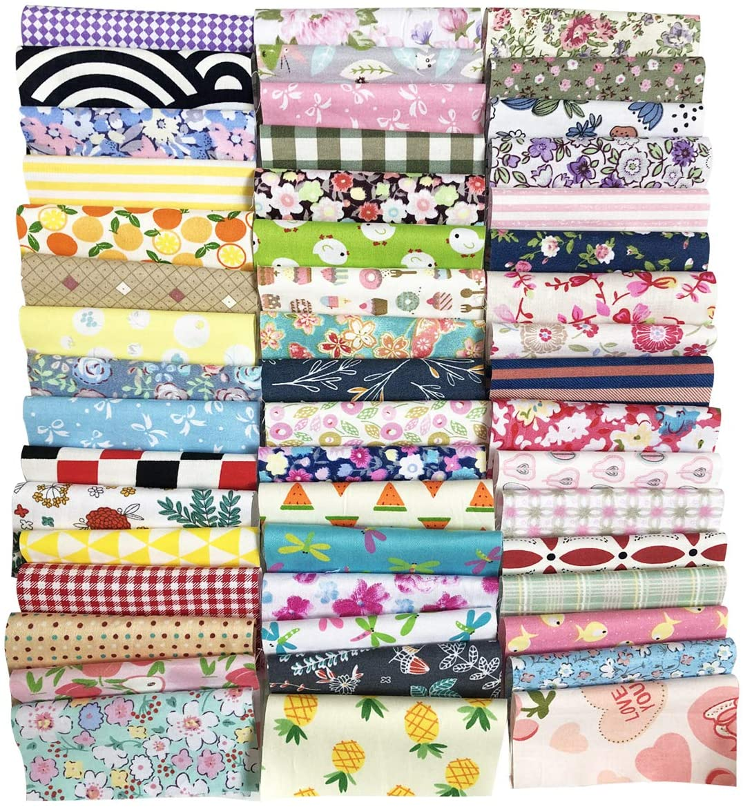 levylisa 200 PCS(10.2cmx10.2cm)100% Precut Cotton Fabric Bundles, DIY Sewing Quarters Bundle, Cotton Quarter Fabric Bundle, Precut Fabric, Quilting Fabric Bundles, Precut Quilt Kit, Vintage Sheet