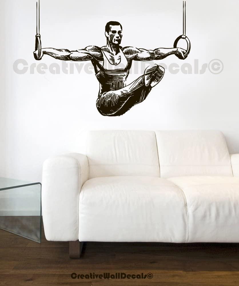 Vinyl Wall Decal Sticker Gimnastic Olimpic Rings Kids Man Bedroom Sport R1759