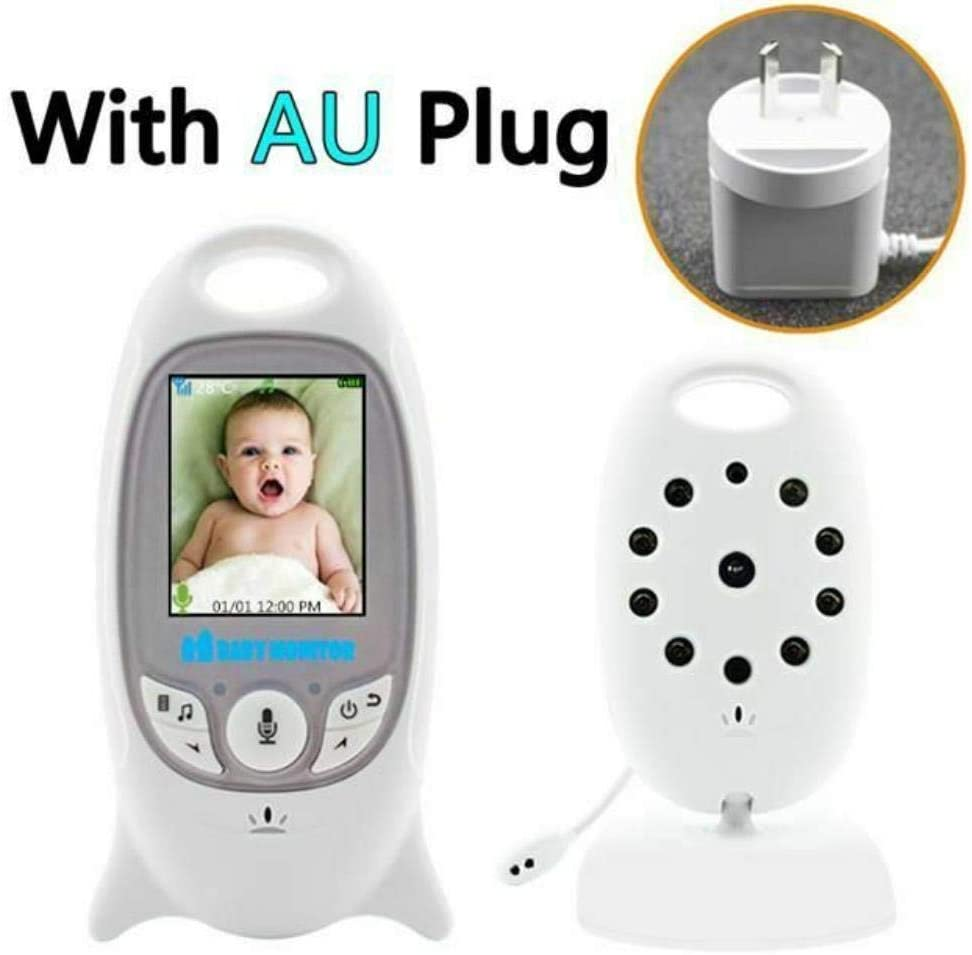 Baby Monitors, Baby Security Camera Temperature Eletronic Monitor Night Vision Wireless Video,AU Plug
