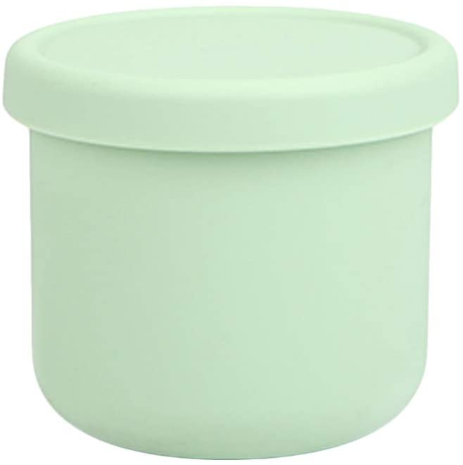 Dailylike BONBON Silicone Baby Food Storage Freezer Containers with Lids | Airtight, Leakproof Food Jars for Babies & Infants | Dishwasher, Microwave, Refrigerator Safe, BPA Free (8.45oz, Mint)