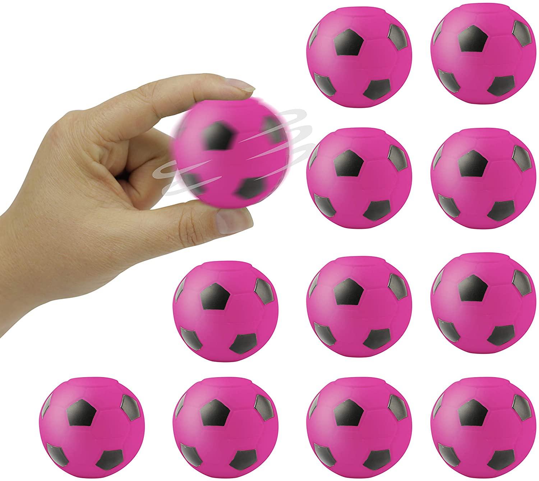 Entervending Fidget Spinner Ball 2 inch - Fidget Toys for Sensory Kids - Figit Spinner - 12 pcs Bulk - Pink