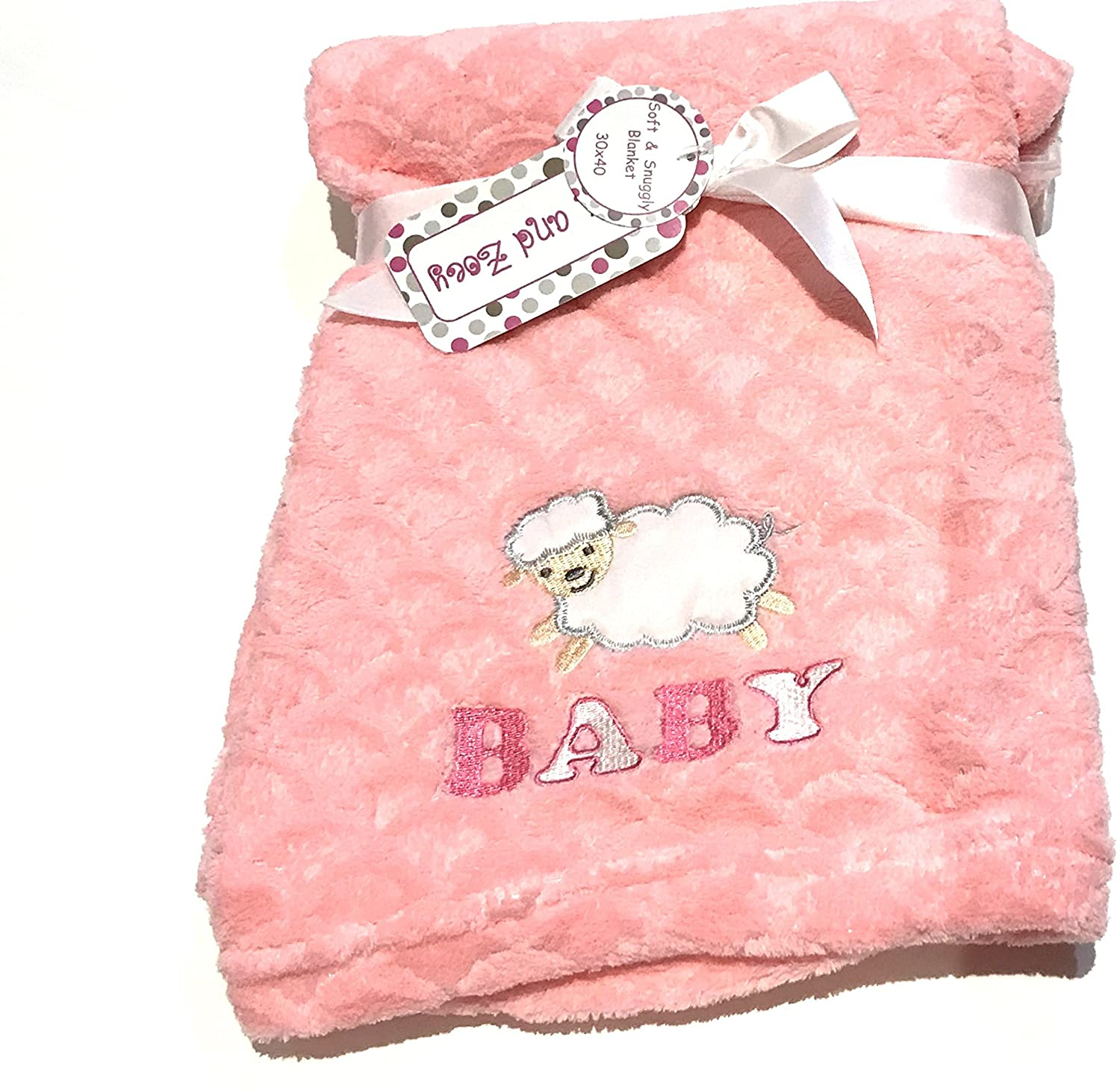 """Counting Sheep Baby Soft and Snuggly 30"""" x 40"""" Blanket"""