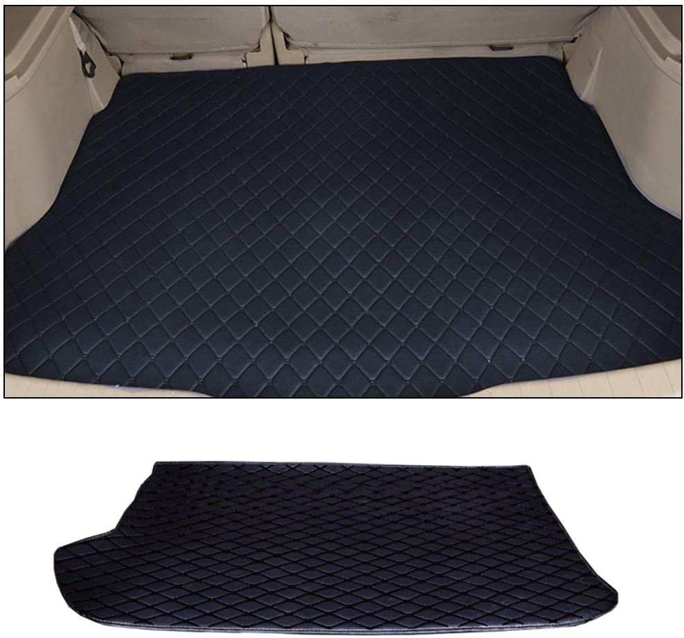 Custom Car Trunk Mats Leather Cargo Liner for BMW X1 E84 2010-2014 All Weather Waterproof Durable Black