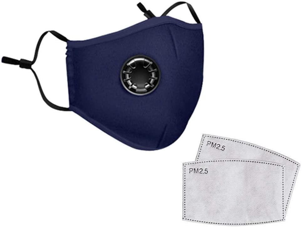 4PCS+8Filter Adult Reusable Dus.tproof Mask,Dus.t Mask PM2.5 Windproof Foggy Haze Pollution Respirator