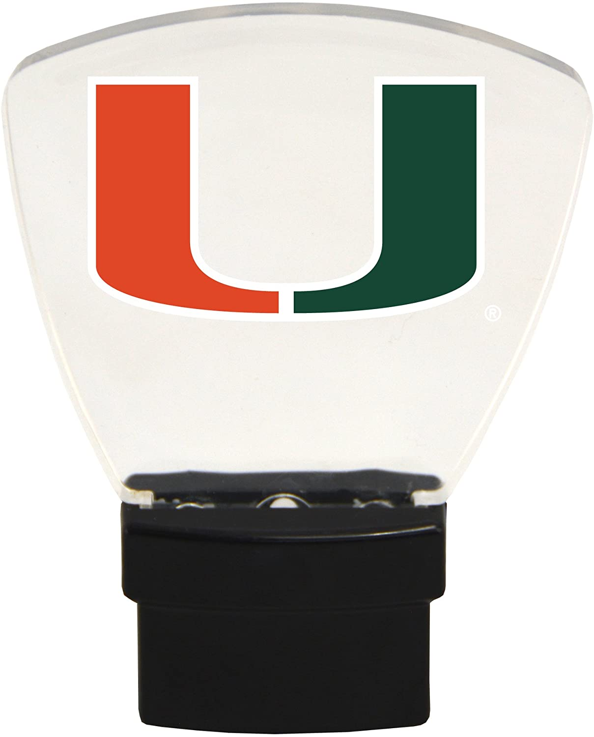 Authentic Street Signs NCAA Officially Licensed-LED Night Light-Super Energy Efficient-Prime Power Saving 0.5 watt, Plug in-Great Sports Fan Gift for Adults-Babies-Kids Room (Miami Hurricanes)