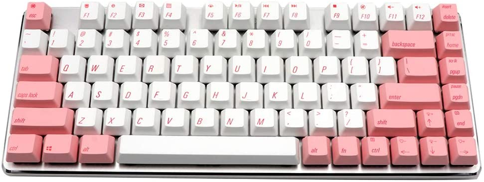 EPOMAKER Magicforce Smart 82-Key Mini Mechanical Keyboard PBT Dye-Subbed Edition with Gateron MX Switches for Windows PC Gamers (Gateron Red Switch, Crystal Pink)