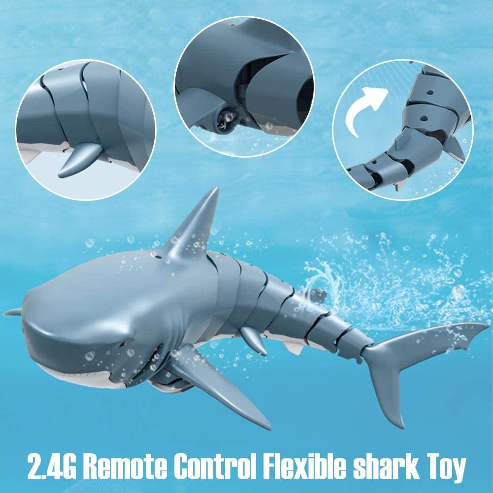 PROKTH 2.4G Simulation Remote Control Shark Boat Toy for Swimming Pool Bathroom Toy Bathtub Kids Electric Animal Toy