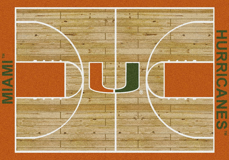 American Floor Mats Miami Hurricanes NCAA College Home Court Team Area Rug 3'10