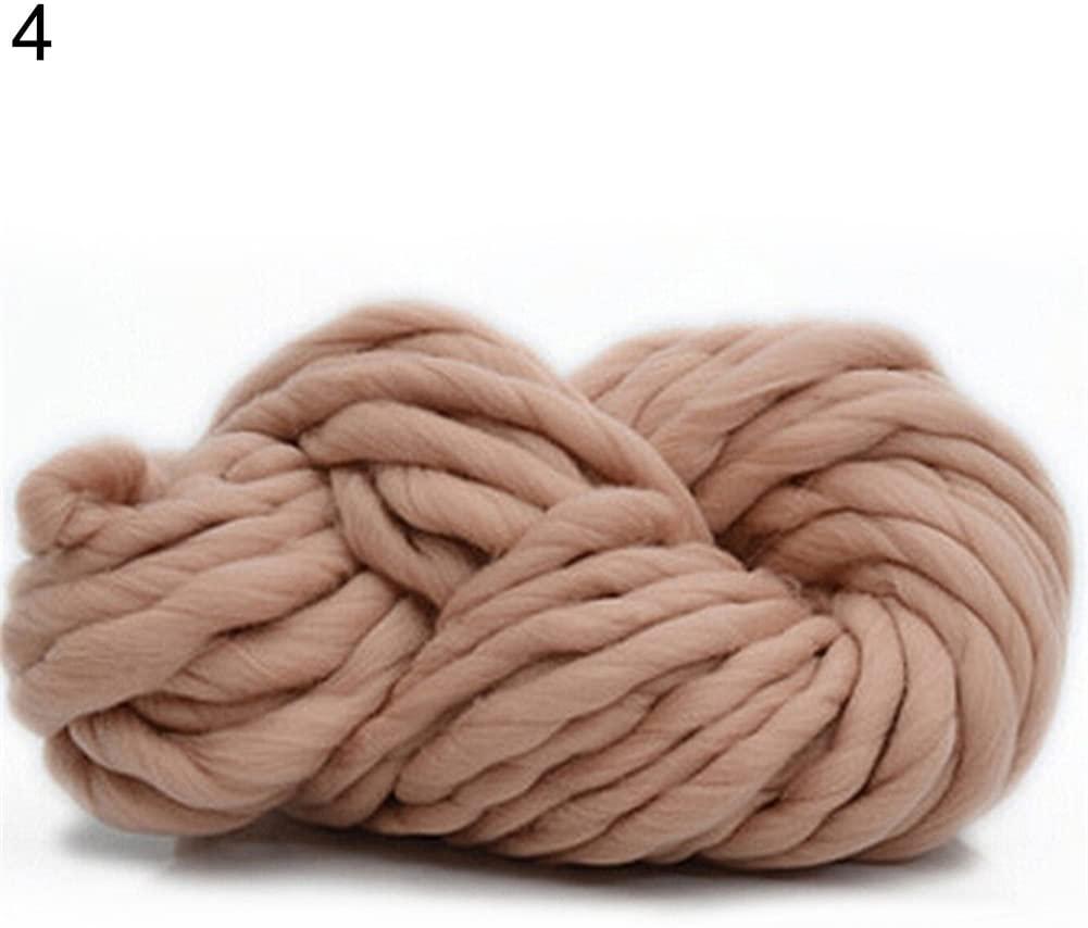 heaven2017 250g Fashion Super Bulky DIY Hand Knitting Blanket Hats Warm Giant Thick Yarn 4#