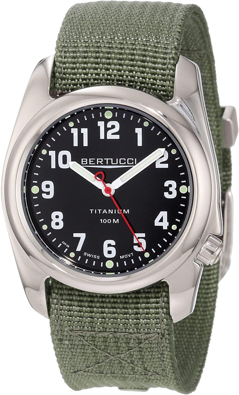Bertucci Men's 12042 A-2T High Polish Durable Titanium Field Watch