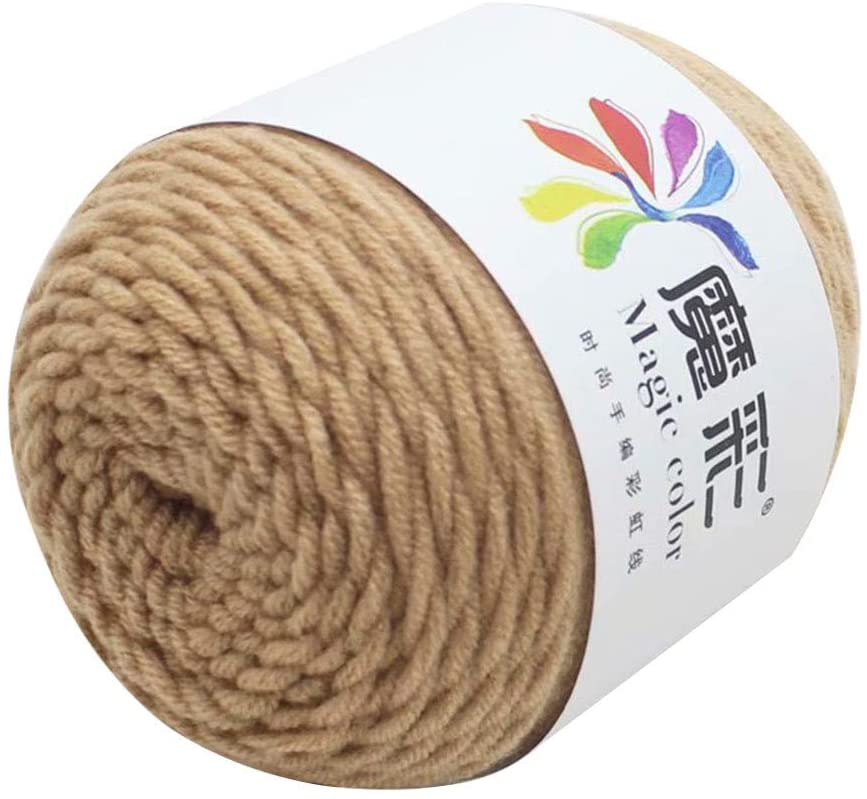 Clearance Sale!! Wool Yarn,Rainbow Wool Balls Cotton Crochet Premium Softest Natural Yarn Sweater Scarf Line Cotton Wool Thread, DIY (V)