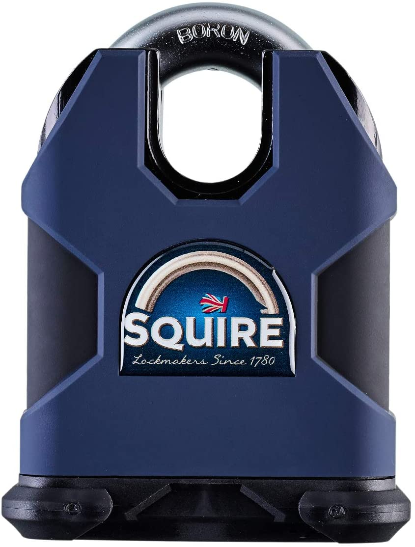 Squire Strong Hold 80mm. Ultra High Security Padlock. CEN 6, LPCB SR 3 Certified. Anti-Drill Protection, Corrosion & Storm Proof. Made in Great Britai (SS80CS - Closed Shackle)
